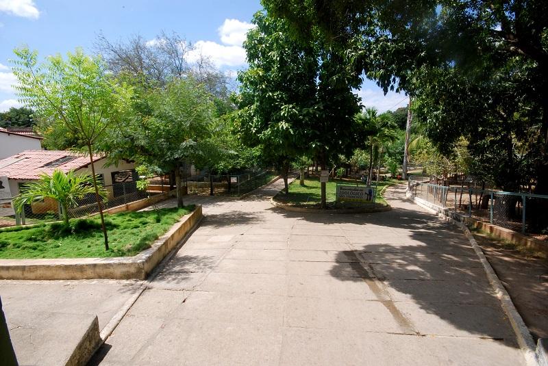 Área de entrada logo após a portaria