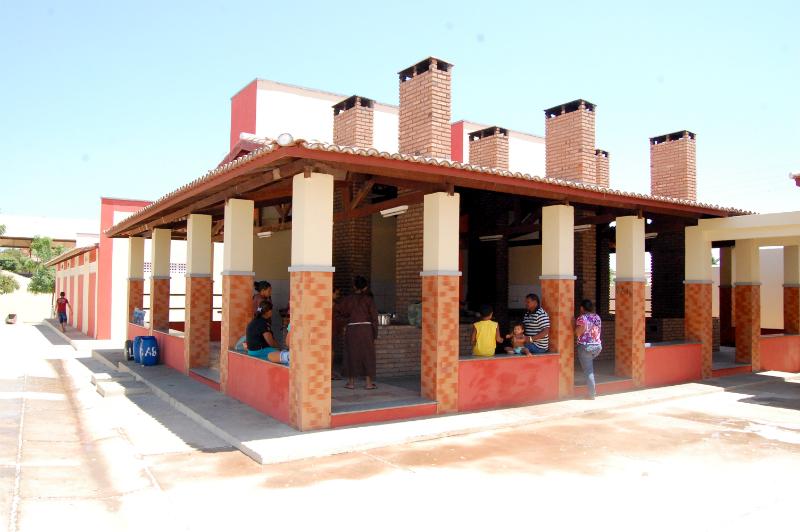 Cozinha comunitária do Abrigo