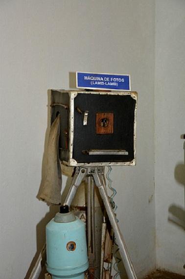 Máquina de fotografia antiga de Canindé, conhecida como Lamb-lamb