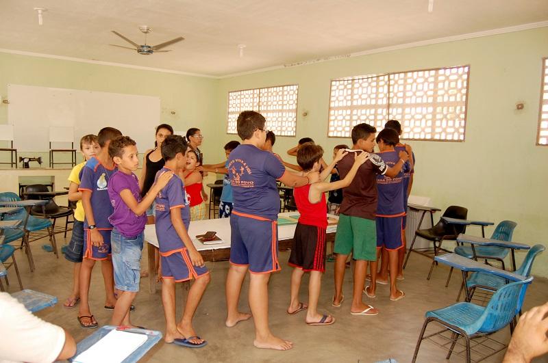 Momento de dinâmica nas aulas