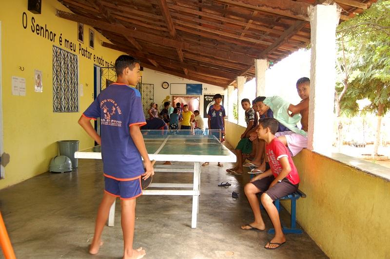 Momento de recreação com as crianças