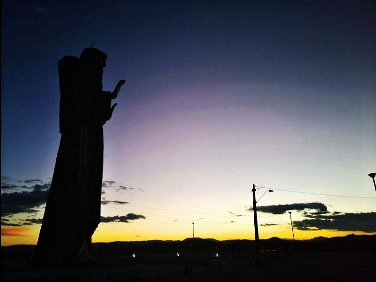 Pôr do sol visto da Estátua de São Francisco