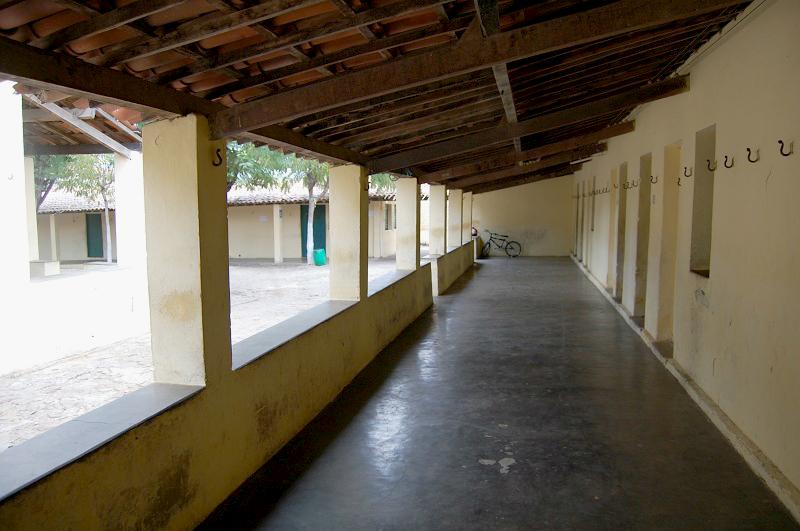 Espaço de acesso aos dormitórios