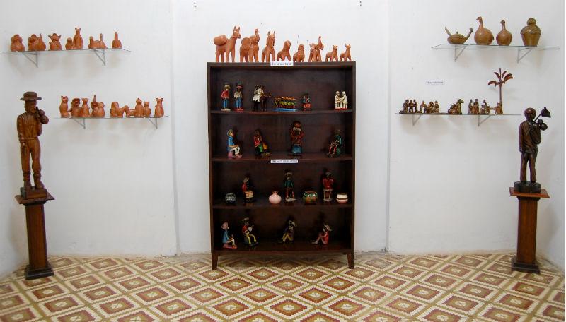 Sala de objetos da cultura popular