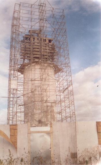 Obra de revestimento da estrutura